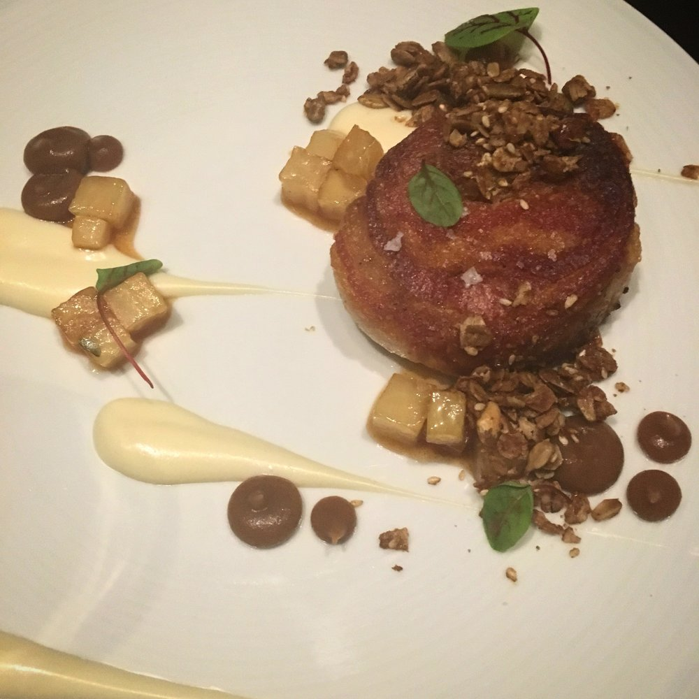 Pork Belly- apple, celery root, granola