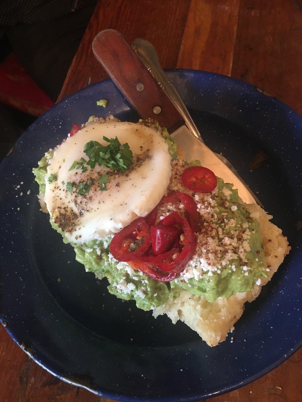 Avocado, fresno chiles, queso fresco, mole spice, cilantro