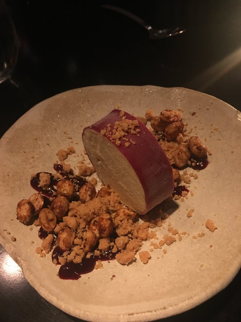 Mochi, peanut, grape