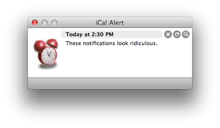 iCal Notification