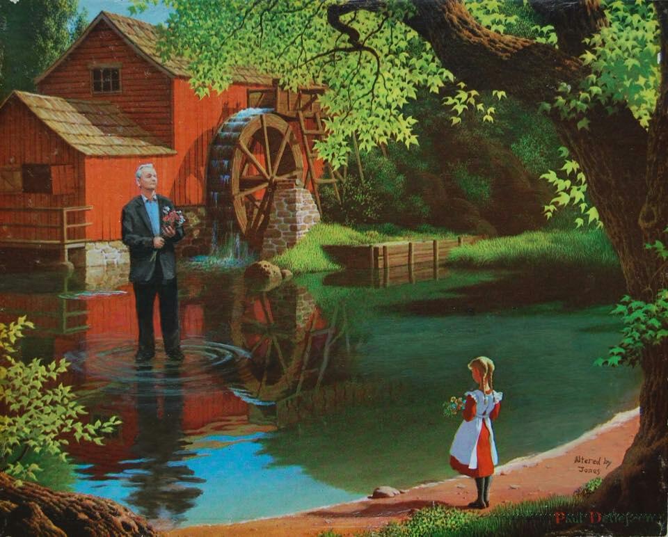 Bill Murray Walking on Water, Artist Jason Jones