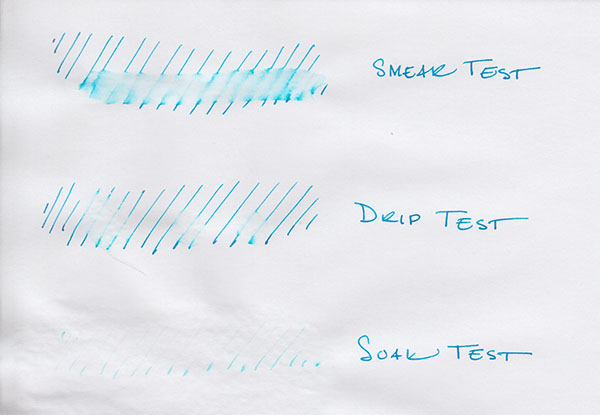 j herbin bleu pervenche water test
