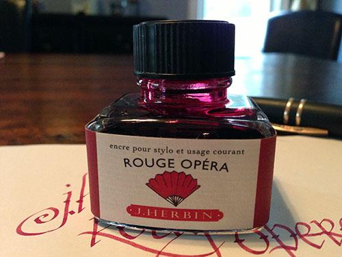 J. Herbin Rouge Opera bottle