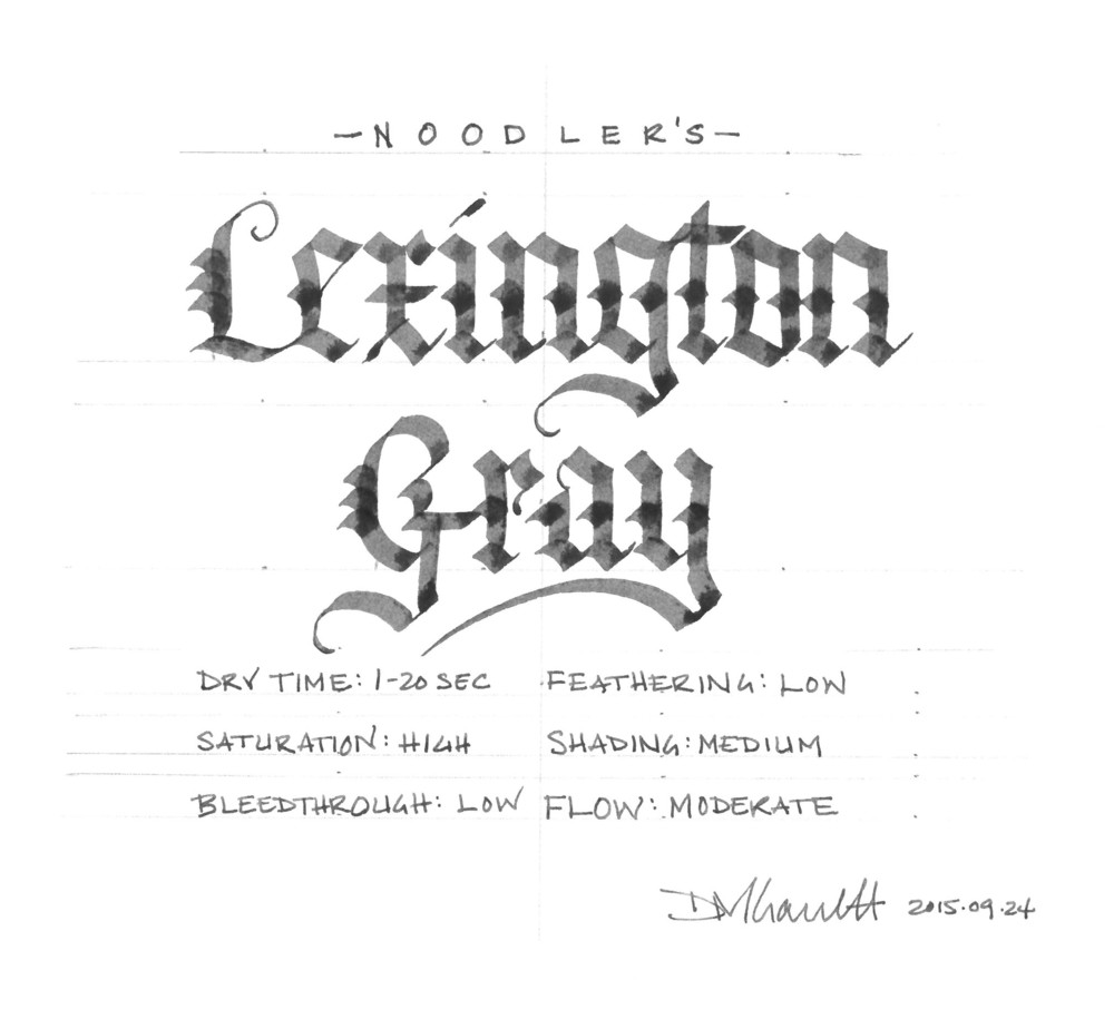 Noodler's Lexington Gray
