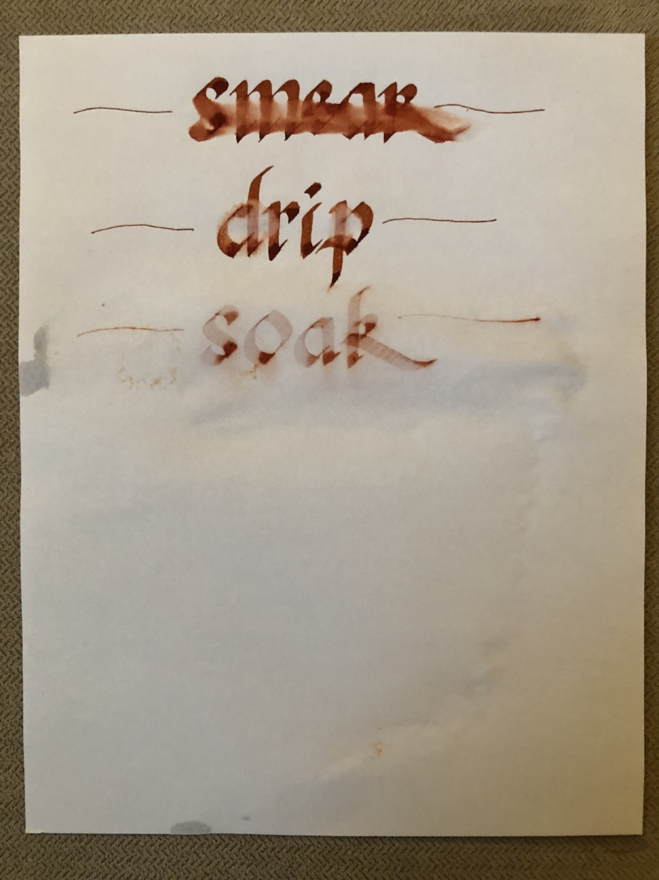 Diamine Ancient Copper Water Tests