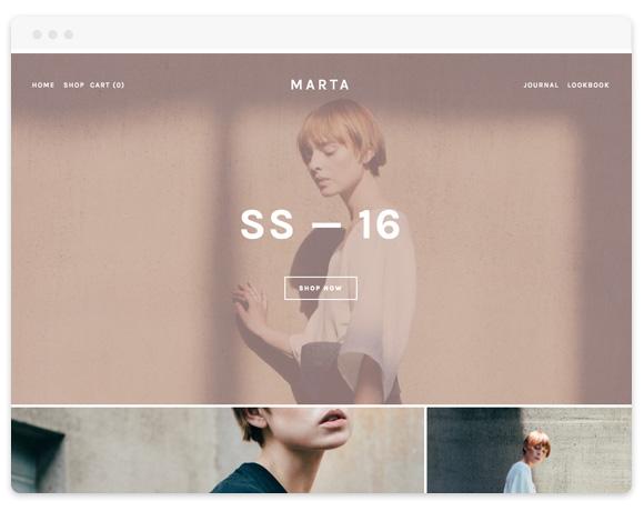 Marta Squarespace Template