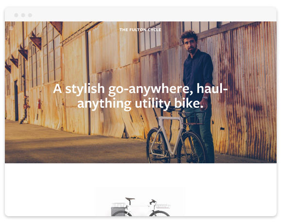 Fulton Squarespace Template