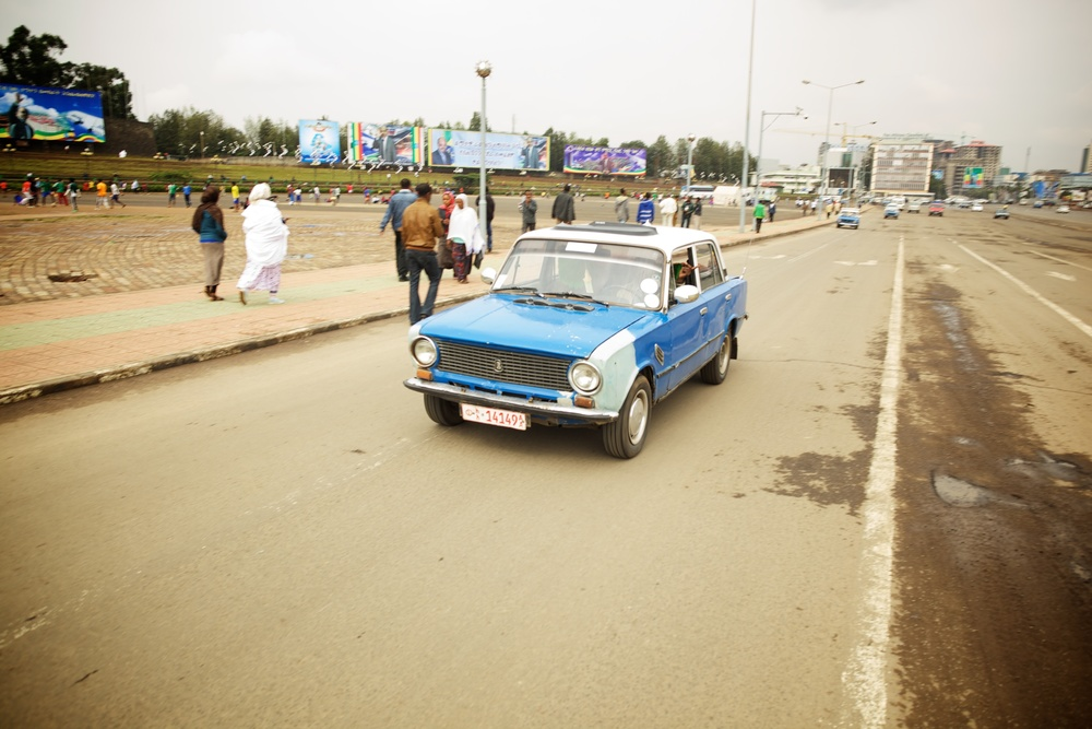 Lada in Addis Ababa, Ethiopia, Sep 2012