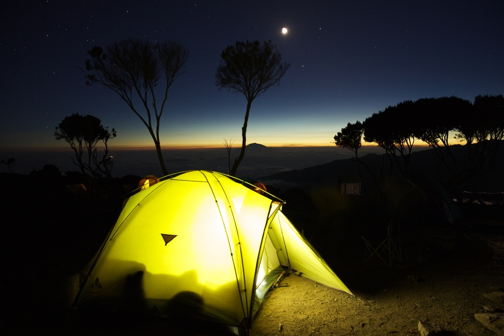 Shira Camp at dusk, 3940 asml, Kilimanjaro (TZ), Sep 2012