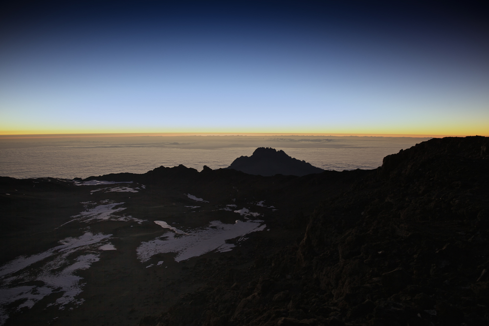 The view from Uhuru Peak 5895masl, Mt. Kilimanjaro (TZ)