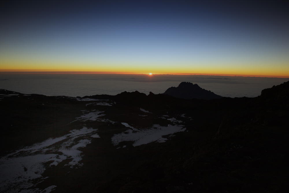 Sunrise at Uhuru peak 5895masl, Mt. Kilimanjaro (TZ)