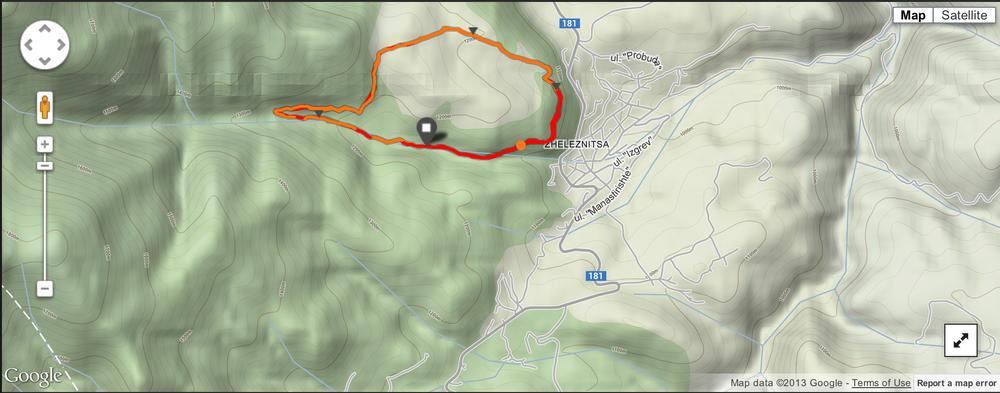 Mountain Trail Race Map, Source: Georgi's Suunto Ambit 2 data