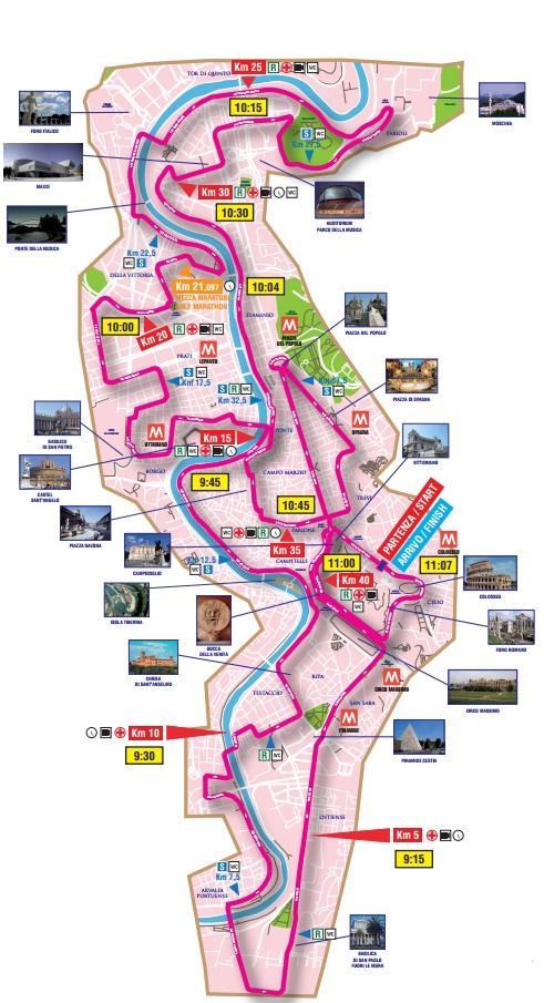 Marathon di Roma Map