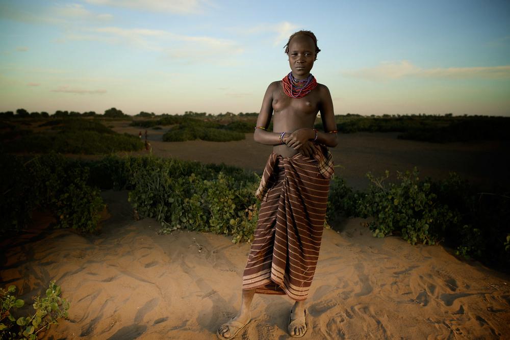 Daasanach Girl in Lower Omo Valley, Ethiopia