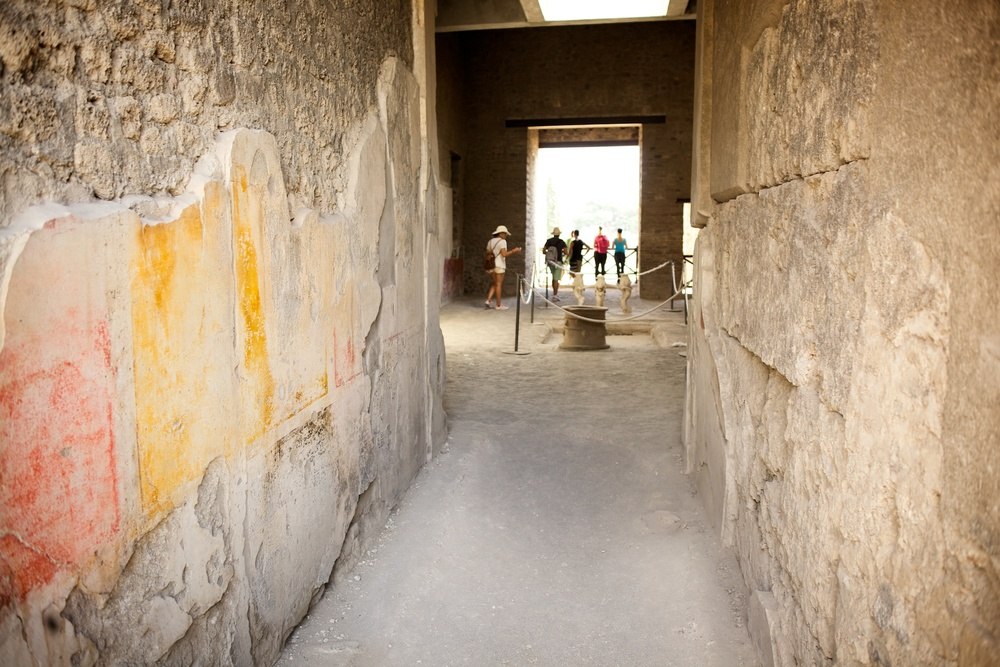 Inside Ancient Roman House, Pompeii