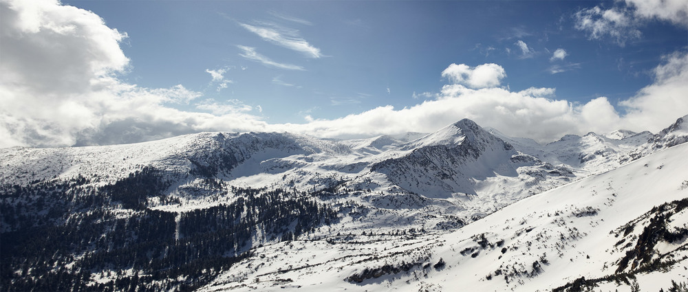 Winter View of Sivria Peak in Pirin