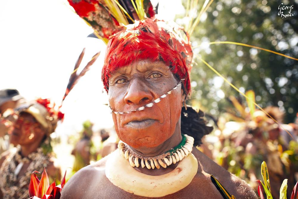ATRIGU TRIBE CHIEF IN PAPUA NEW GUINEA