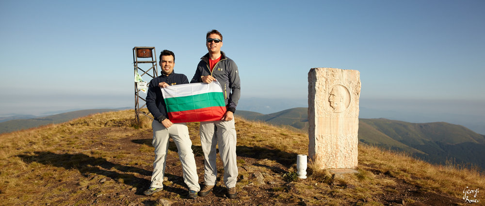 Mitko & Georgi at Kom peak, Bulgaria