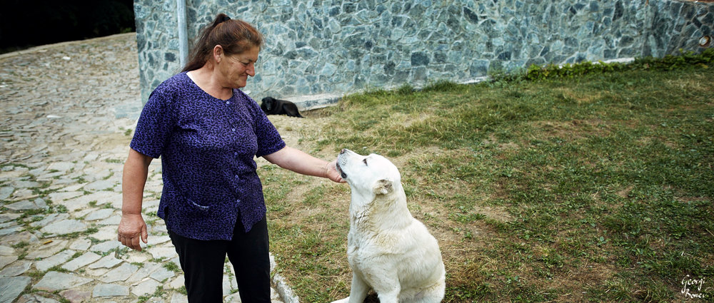 Halil & her dog, Leskova refuge, Bulgaria