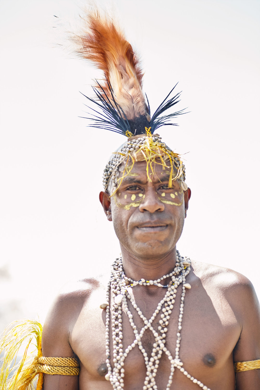 CHIEF OF BUKAWA TRIBE IN PAPUA NEW GUINEA
