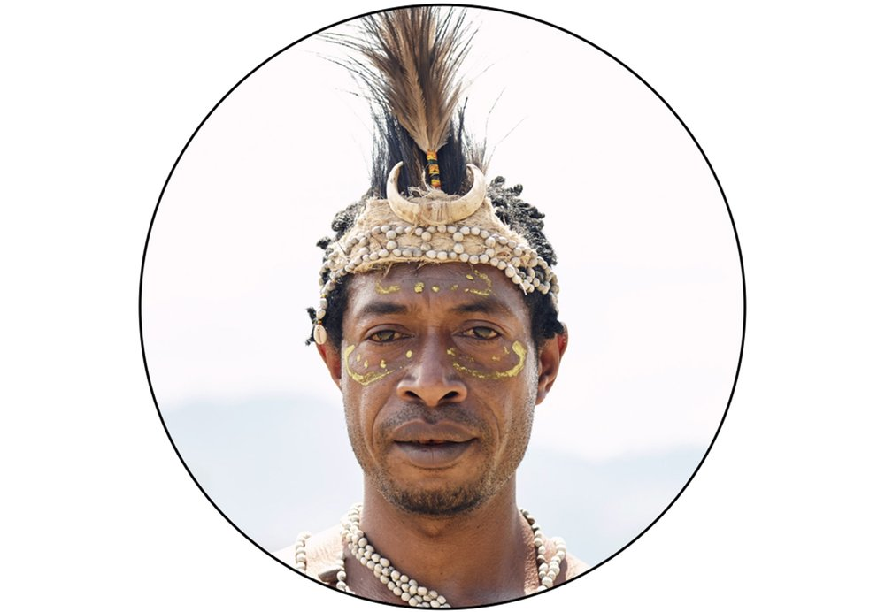 BUKAWA WARRIOR IN PAPUA NEW GUINEA