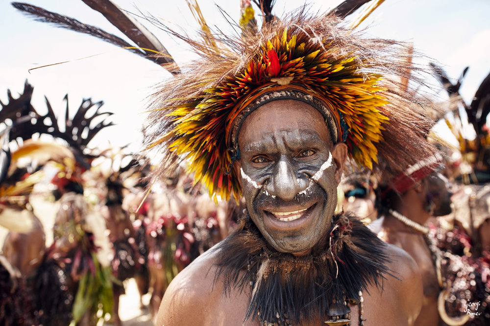 DUMANIGU WARRIOR IS UPSET ABOUT NEWCOMERS, PAPUA NEW GUINEA