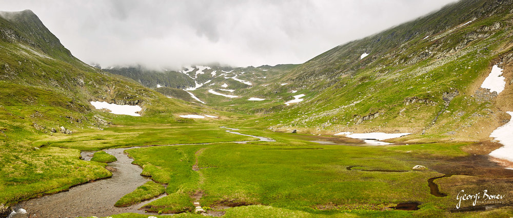 1st terasse on the way to Moldoveanu Peak, Fagaras Mountain, Romania