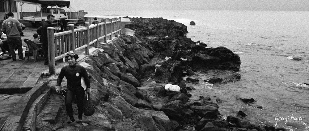 HAENYEO DIVER IN JEJU ISLAND, KOREA