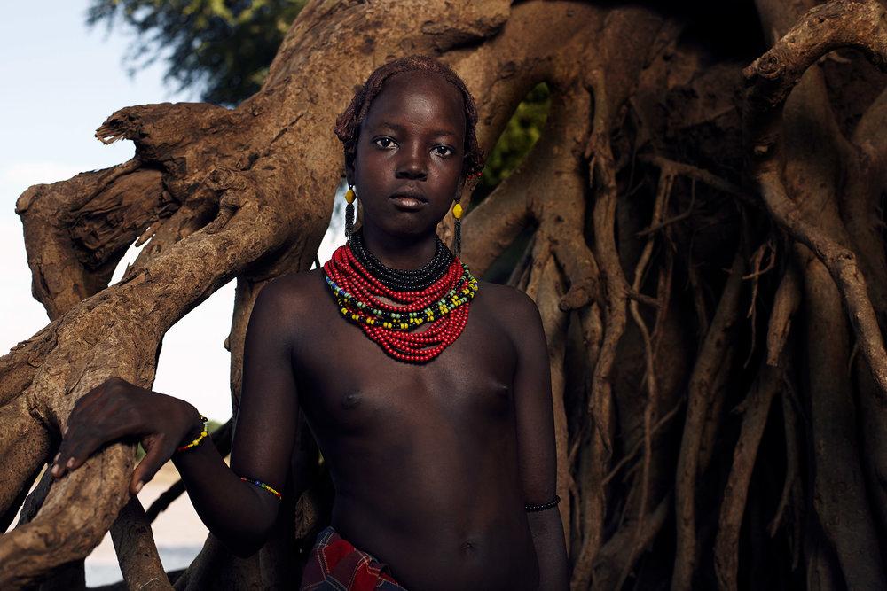 DAASANACH GIRL, OMO VALLEY, ETHIOPIA