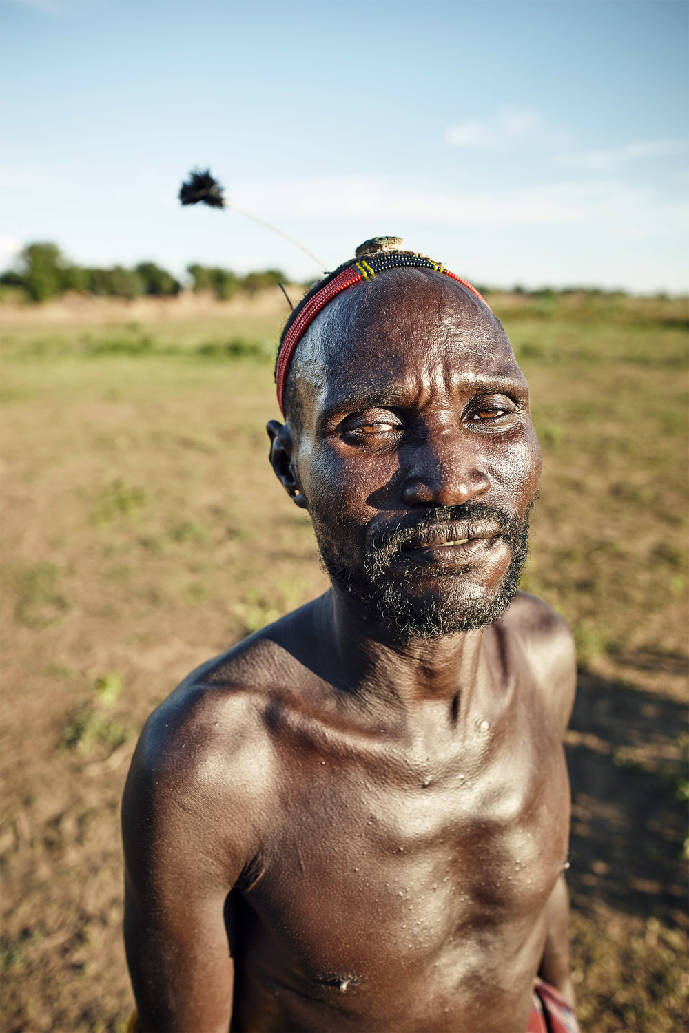 DAASANACH TRIBE CHIEF IN LOWER OMO VALLEY, ETHIOPIA
