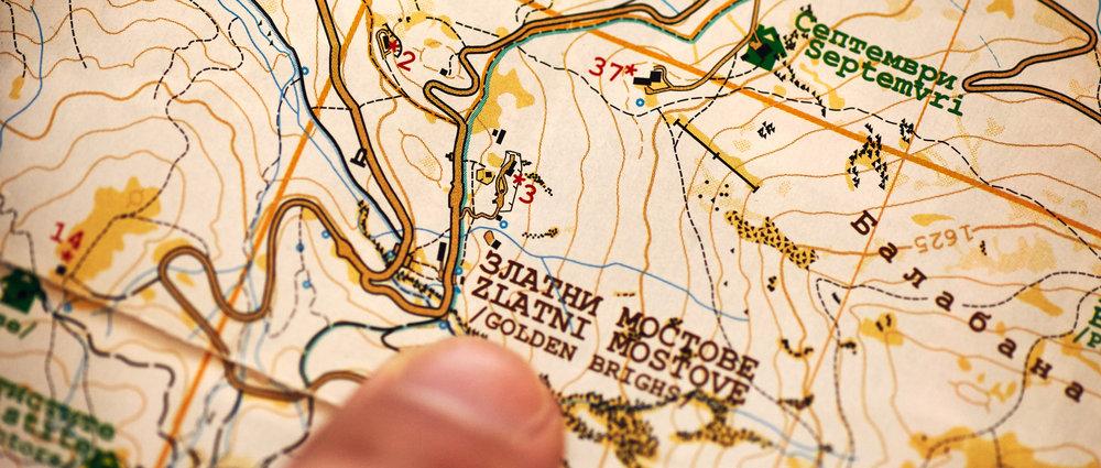 Map of Vitosha Mountain, Bulgaria, 2018