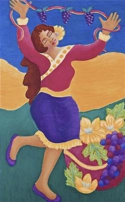 """Wine Dance"" by artist Janet Ekholm www.janetekholm.com"
