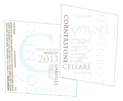 2013 Cornerstone Cellars Napa Valley Merlot, Oakville Station Vineyard, Oakville AVA, White Label