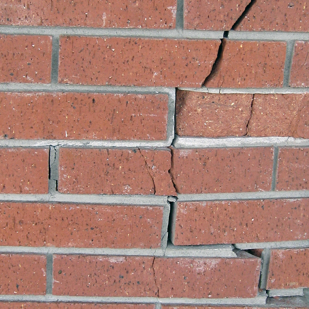 Figure 11. This brick facade is a good candidate for structural crack monitoring. Photo credit: Sherrie Thai under license of Creative Commons.