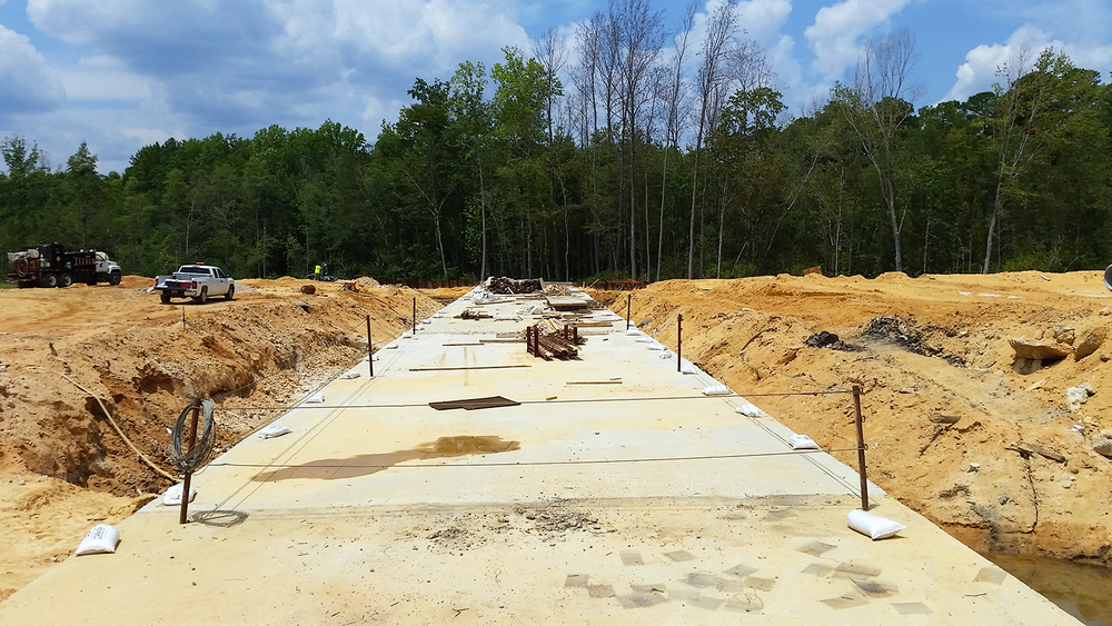 Figure 5. Culvert view from start of construction