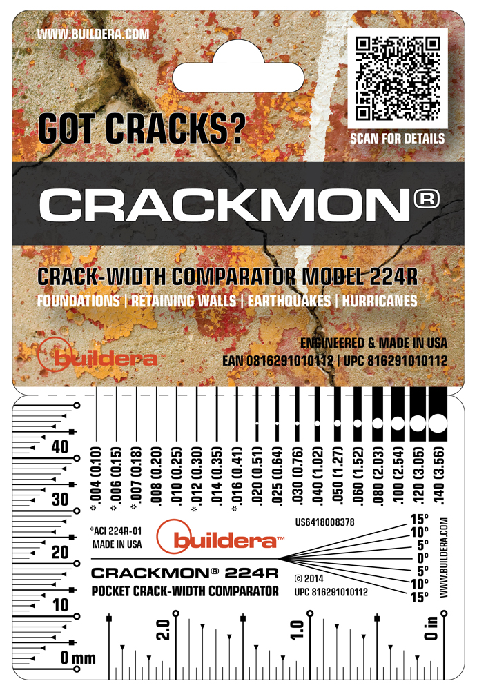 Buildera™ CRACKMON® 224R™ Crack-Width Comparator. Use stand-alone or in conjunction with Buildera CRACKMON 4020A and 5020AV crack monitors.
