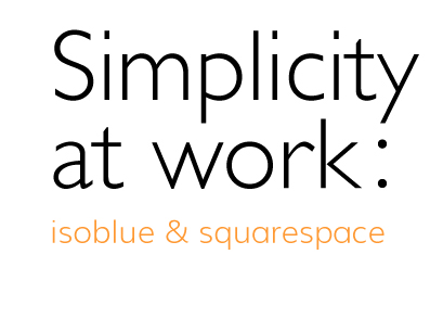 Isoblue and Squarespace