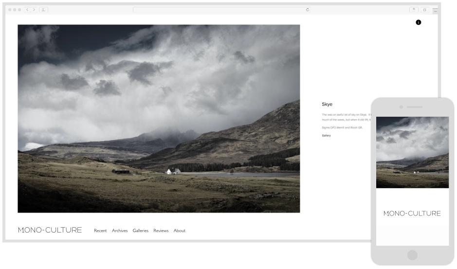 Mono-Culture - Portfolio Website