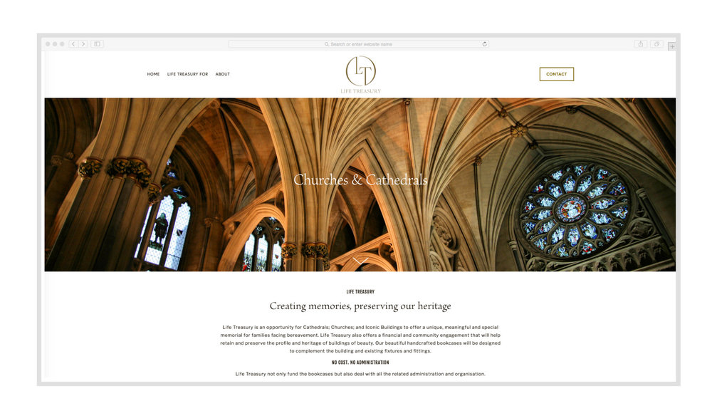 Life Treasury - Website Design & Build