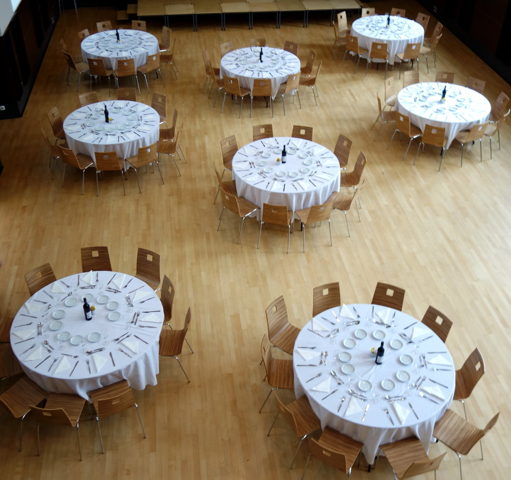 Tables in Main Hall