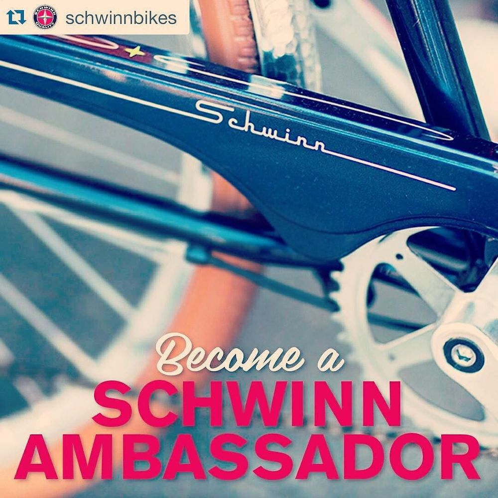Love taking pictures, writing, and riding bikes? Join the Schwinn Ambassador team!! We're looking to expand our ambassador team around the United Sates, to help us provide awesome local content! It's a great way for you to build a presence in the blogging and instagram world, and you'll get a brand new 2016 Schwinn Signature bike and some awesome Schwinn schwag throughout the year. You don't need to be a bike expert; we're simply looking for a range of people that love getting on their bike and are excited to provide content from their perspective - be that city cycling, road cycling, riding with kids, commuting, mountain biking, cafe culture, fixie scene… You get the picture! If you're interested in finding out more, please email shersil@pacific-cycle.com with your area of interest (blogging, photography, or both), why you're the right person, and what sort of biking you might be interested in! Looking forward to hearing from you, or tag a friend who may be interested. http://ift.tt/1OsPPjt