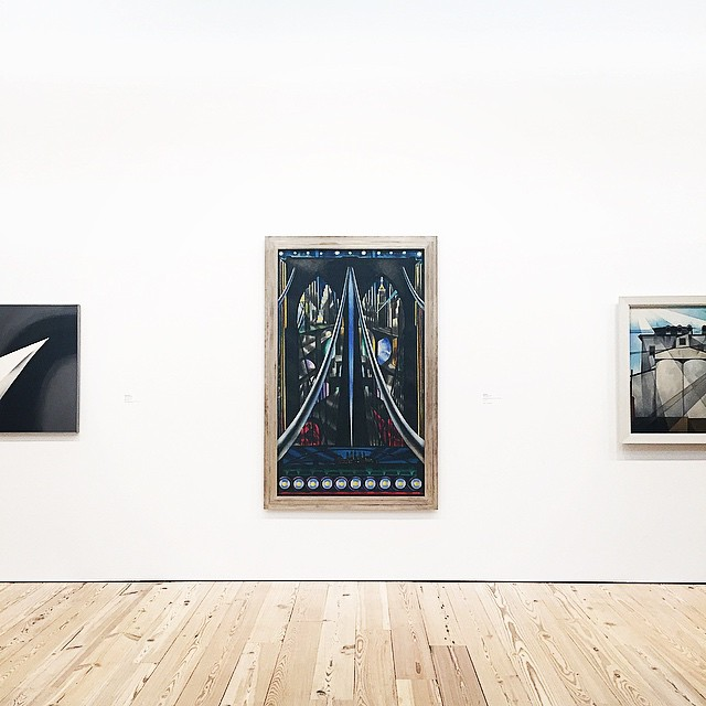 #JosephStella—one of the first American artists to glorify the new technologies of urban modernity—was born today in 1877. The #BrooklynBridge was his most iconic subject. This painting on the 8th floor is nearly 6 feet tall! #NewWhitney by whitneymuseum  http://ift.tt/1JLX3vA