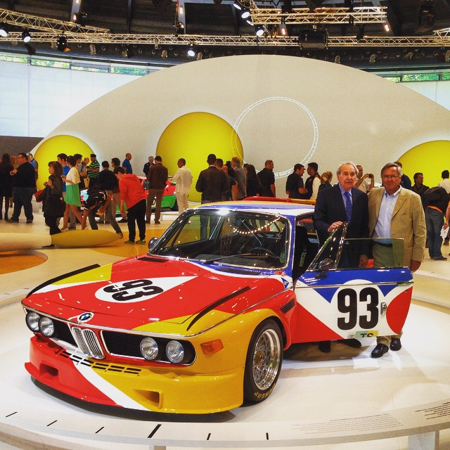 auto23: #bmw 3.0 CSL - #jochenneerpasch and #hervepoulain. The greatest days of my life! #bmwrepost #bmwclassic #artcar #instapic #carsofinstagram #instacar #art #villadeste #concorsodeleganza (at Villa Erba)