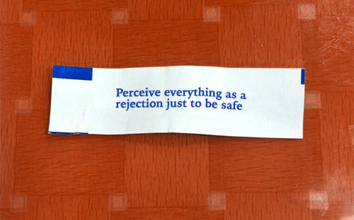 nevver :      Fortune cookie