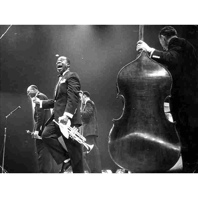 """What we play is life."" – Louis Armstrong, 1956. by impossiblecool http://ift.tt/1HaRVzY"