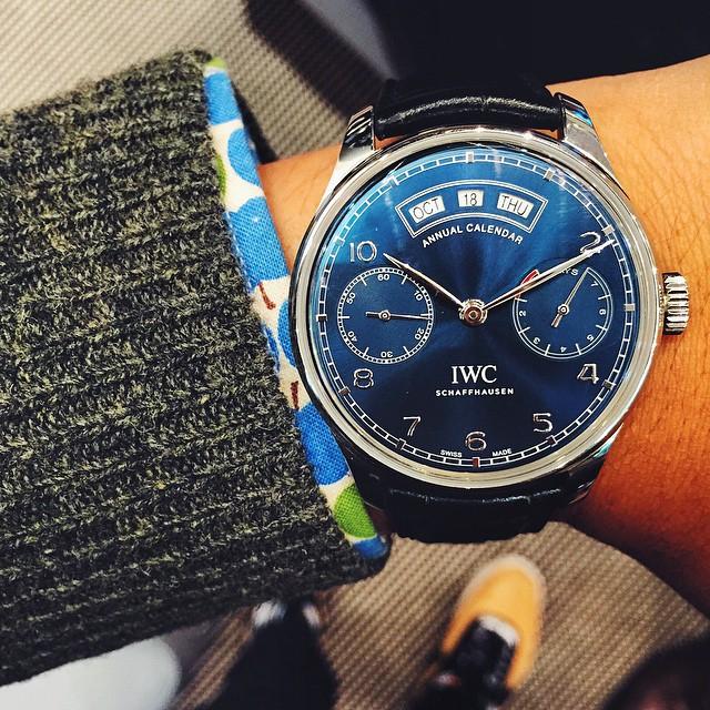Spiffy blue dial #IWC #Portugieser #AnnualCalendar. 👏🏻💯 #womw #luxury #watchporn #instawatch #firstclass #redbarcrew by jshi809 http://ift.tt/1CAWATN