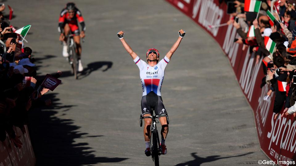 flanderscyclingguy :   Zdenek Stybar wins the Strade Bianche.