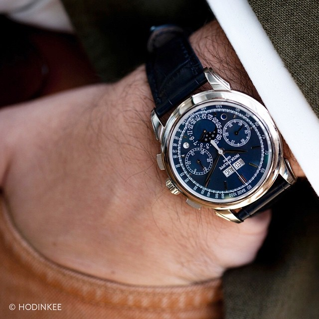This.    hodinkee :     A Week on the Wrist: The Patek Philippe 5270G by @pboutros. Today on HODINKEE.