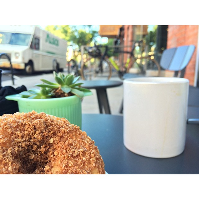 The glory of a coffee, doughnut, and bike ride. #doughnuts @bouldercupcakes by amichaelcody  http://ift.tt/XxXinP