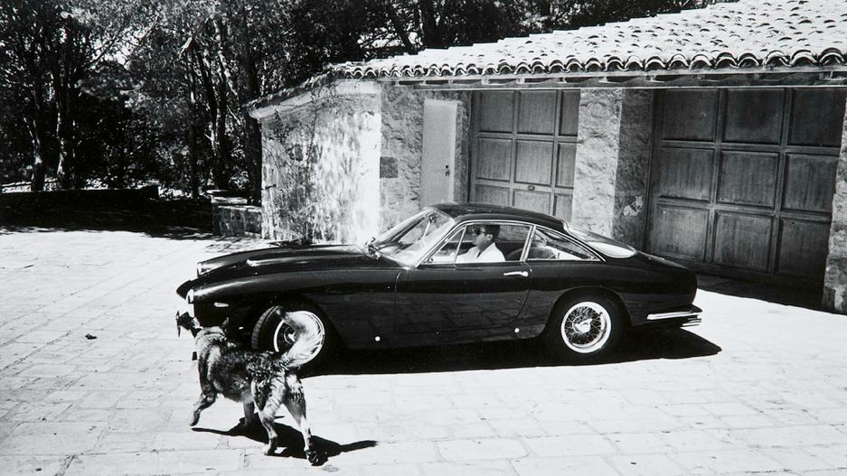 nuuro :     Steve McQueen in his 1963 Ferrari 250GT Lusso
